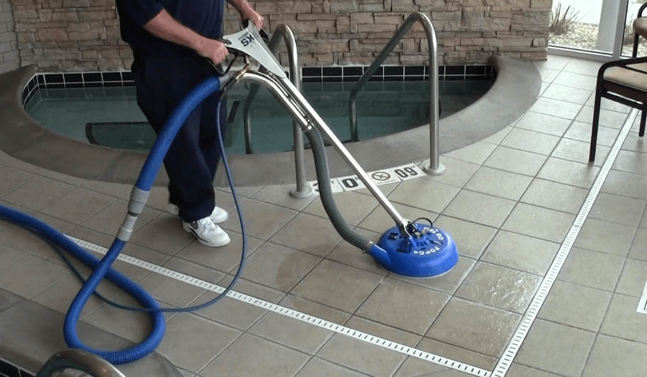 Ceramic tile cleaning machines